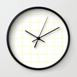 Graph Paper (Light Yellow & White Pattern) Wall Clock