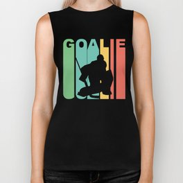 Retro Style Hockey Goalie Biker Tank