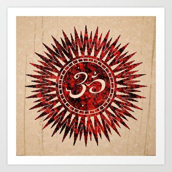 khórinom redstone mandala Art Print