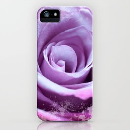 Rose of Love #Pink #Purple #art #society6 iPhone Case