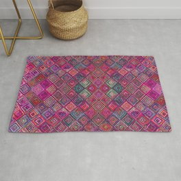 N97 - HQ Pink Bohemian Oriental Moroccan Abstract Art Design Rug