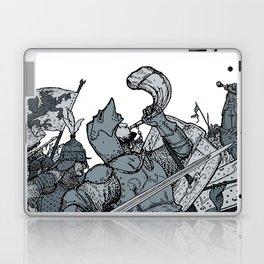 Saturday Knight Special STEEL BLUE / Vintage illustration redrawn and repurposed Laptop & iPad Skin