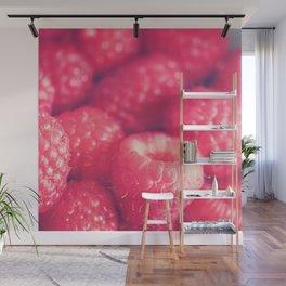 raspberries. les framboises Wall Mural