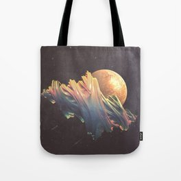 "Glitch art, ""Dragon Egg"" 2014 Tote Bag"