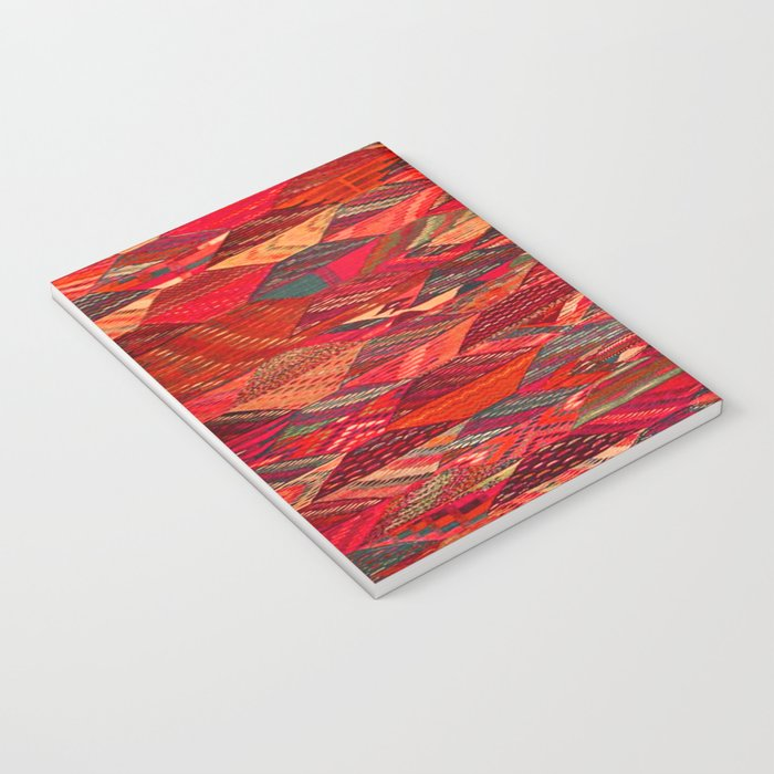 V35 Red Traditional Moroccan Artwork Pattern Notebook