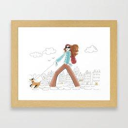 Se Promener / A Stroll Framed Art Print