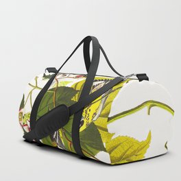 Black and Yellow Warbler James Audubon Vintage Scientific Illustration American Birds Duffle Bag