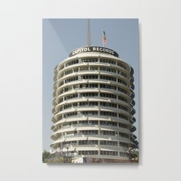 The Iconic Capitol Records Building Metal Print
