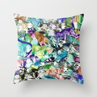 school Throw Pillows featuring School by Nancy Smith