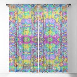 Klimt Tree of Life Mandala Sheer Curtain