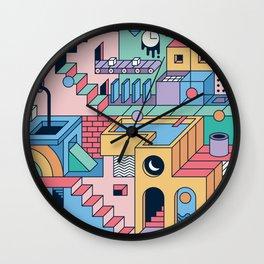 80's Escher Wall Clock