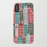 buildings iPhone & iPod Cases featuring Buildings by Rae Ritchie
