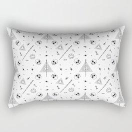 Deathly Hallows (White) Rectangular Pillow