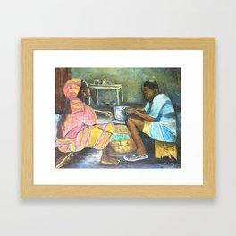The supper Framed Art Print