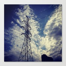Heavenly spring sky in an industrial world Canvas Print