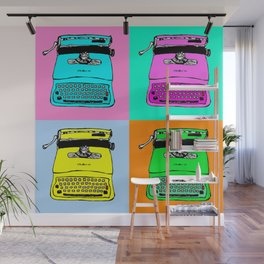 Let's warholize! Olivetti lettera22-style full of color Wall Mural