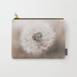 Spring Dandelion in Sepia Carry-All Pouch