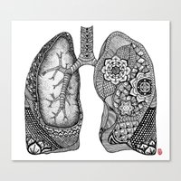lungs Canvas Prints featuring Lungs by ericajc