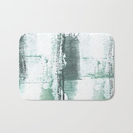 Gray green stained watercolor texture Bath Mat