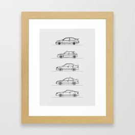 GROUP A RALLY CARS Framed Art Print