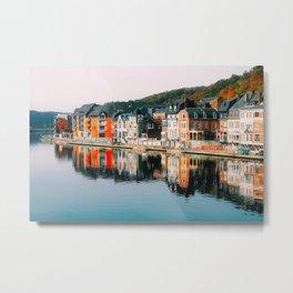 Riverfront Row Houses (Dinant, Belgium) Metal Print