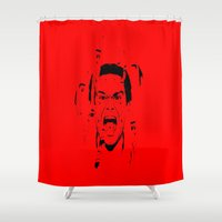 dexter Shower Curtains featuring Dexter Morgan by Sa-Foto