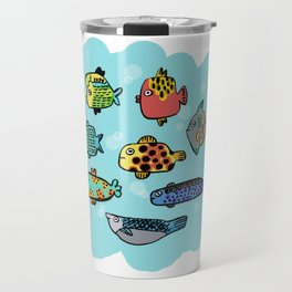 Fish Portrait in Sea Travel Mug