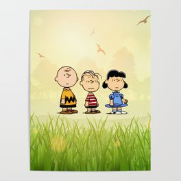 Snoopy and friend Poster
