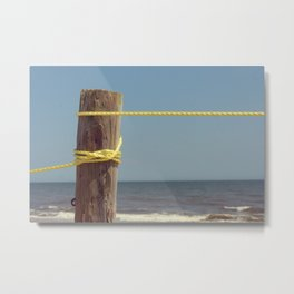 Beach Post Rope Metal Print