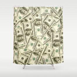 100 dollar bills Shower Curtain