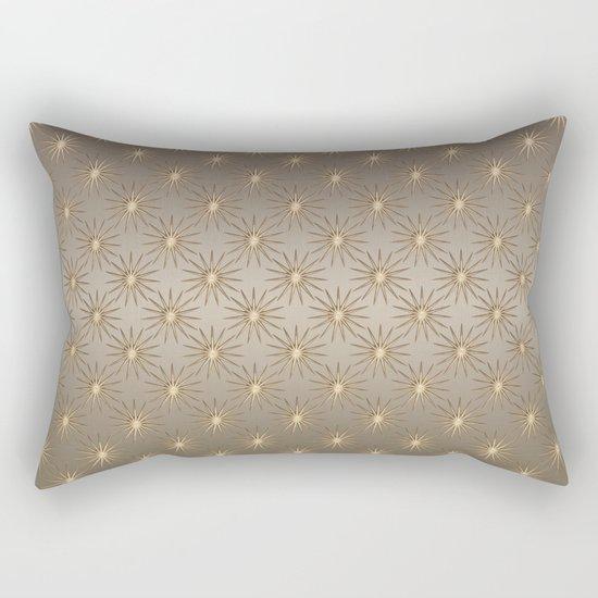 elegant golden Star pattern Rectangular Pillow