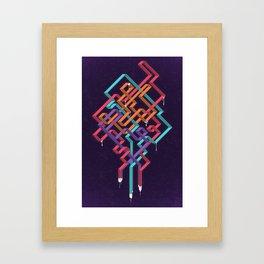 Weaving Lines Framed Art Print