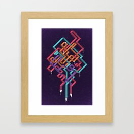 Weaving Lines Framed Art Print