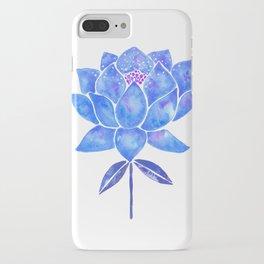 Sacred Lotus – Blue Blossom iPhone Case