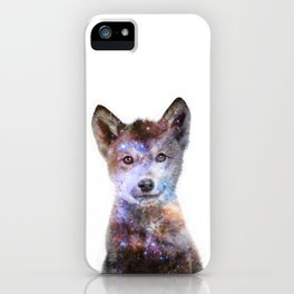 Baby Wolf Gasing At The Stars iPhone Case