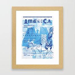 KureAll 300mg America (Navy on Carolina Blue) Framed Art Print