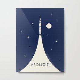 Apollo 11 Space - Saturn Rocket B Metal Print