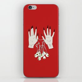 Creepy Hands Holding Eyes iPhone Skin