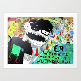 Die wütende Aue. Art Print