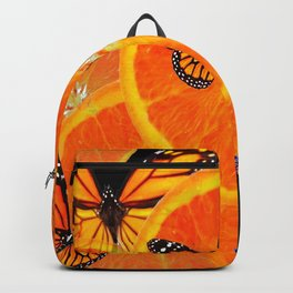 ORANGE SLICES & MONARCH BUTTERFLIES ON Backpack