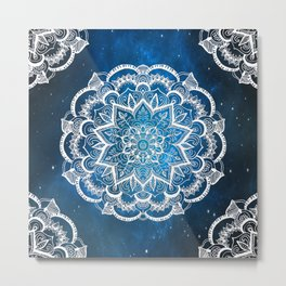 Mandala into Galactic stars Metal Print