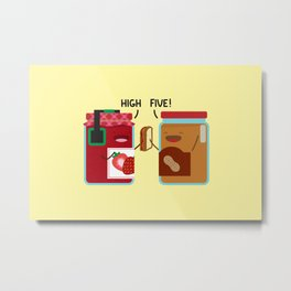 PB & J - High Five Metal Print
