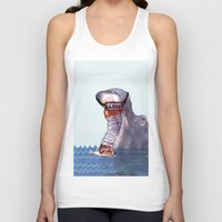 hippo Tank Tops featuring Hippo by MGNFQ