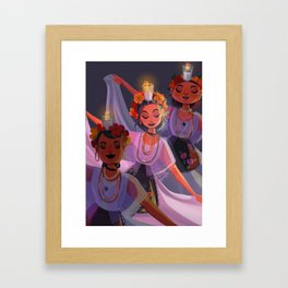 La Bruja Framed Art Print