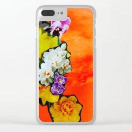 Garden Circle - Fire Clear iPhone Case