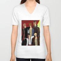 gundam V-neck T-shirts featuring Gundam Wing by artwaste