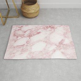 Elegant blush pink white chic marble glitter Rug