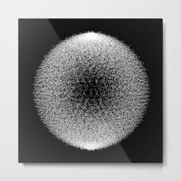 Abstract scribble circle banner. Metal Print