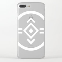 porter robinson & madeon shelter white Clear iPhone Case
