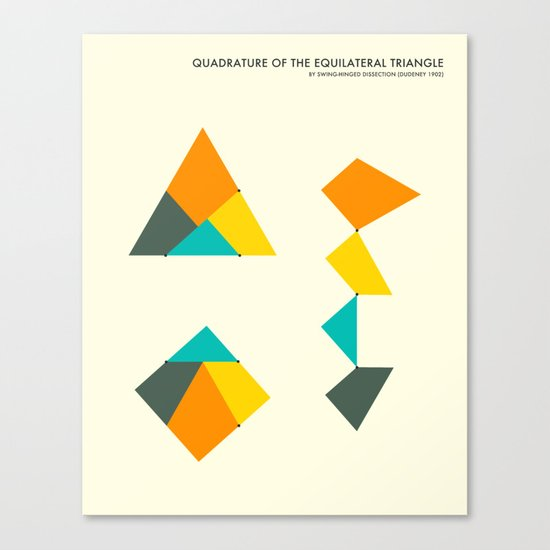 QUADRATURE OF THE TRIANGLE Canvas Print